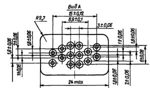 Конструктивные данные реле РЭС53