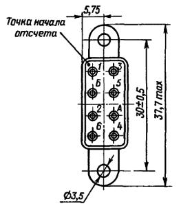 Конструктивные данные реле РЭС54Б