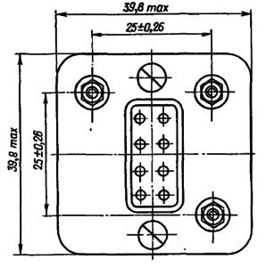 Конструктивные данные реле РЭС59В (с платой для болтового крепления)