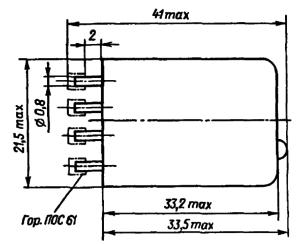 Конструктивные данные реле РЭС59А (без угольников)