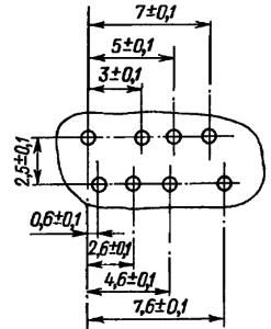 Разметка для крепления реле РЭС60