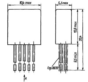 Конструктивные данные реле РЭС79