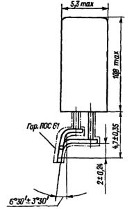 Конструктивные данные реле РЭС80-1 с планарными выводами