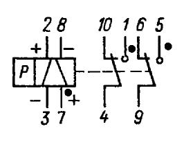 Принципиальная электрическая схема реле РПС20