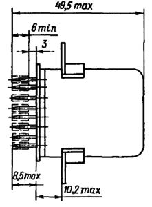 Конструктивные данные реле ДП12