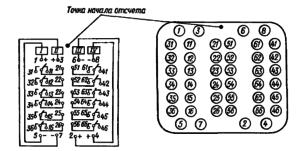 Монтажная электрическая схема (вид со стороны монтажа) и маркировка