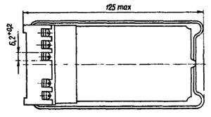 Конструктивные данные зачехленного реле МКУ48-С