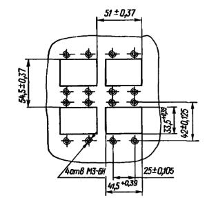 Разметка для крепления реле ДП12