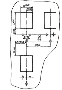 Разметка для крепления реле с толкателем типа «дужка»
