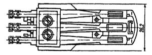 Разметка для крепления реле РКМ1 с экранодержателем