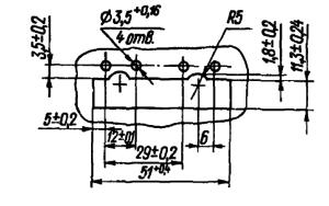 Разметка для крепления дросселя РКМ1