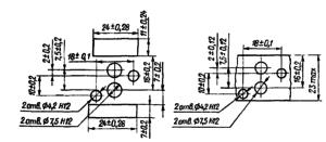 Разметка для крепления реле РКМП1