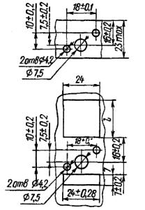 Разметка для крепления реле РКМП2