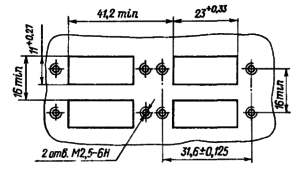 Разметка для крепления реле РПС20