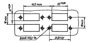 Разметка для крепления реле РПС32