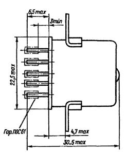 Конструктивные данные реле РПС20
