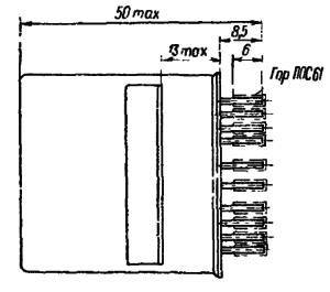 Конструктивные данные реле РПС28