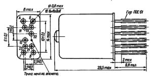 Конструктивные данные реле РПС43
