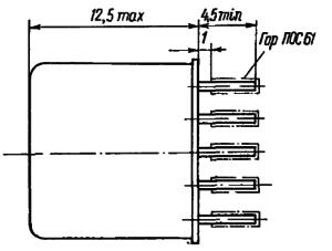 Конструктивные данные реле РПС45 со штыревыми выводами