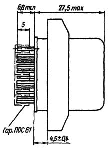 Конструктивные данные реле РПС58