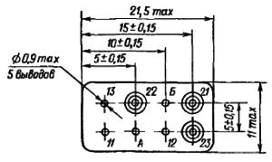 Конструктивные данные схемы РЕА12. Исполнение ЯЛ4.552.001