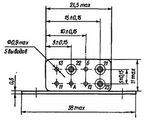 Конструктивные данные реле РЭА12. Исполнение ЯЛ4.552.001-01