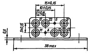 Конструктивные данные реле РЭА12. Исполнение ЯЛ4.552.001-03