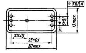 Конструктивные данные реле РЭС42