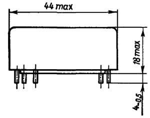Конструктивные данные реле РЭС81