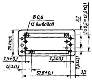 Конструктивные данные реле РЭС83