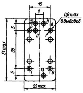 Конструктивные данные реле РГК11