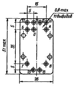 Конструктивные данные реле РГК12