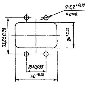 Разметка для крепления схемы РПА14.