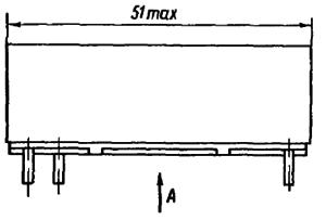 Конструктивные данные реле РПС49, РПС50