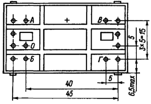 Конструктивные данные реле РПС52