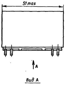 Конструктивные данные реле РПС55, РПС56