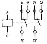 Принципиальная электрическая схема реле РЭА12. Исполнение ЯЛ4.552.001-02
