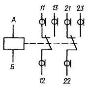 Принципиальная электрическая схема реле РЭА12. Исполнение ЯЛ4.552.001-03
