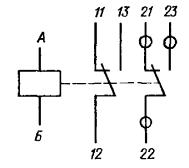 Принципиальная электрическая схема реле РЭА12. Исполнение ЯЛ4.552.001