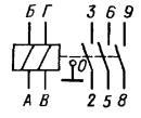 Принципиальная электрическая схема реле РЭС44