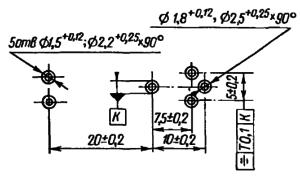 Разметка для крепления реле РЭС55А