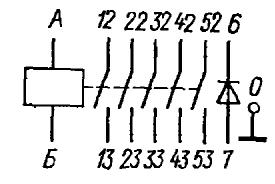 Принципиальная электрическая схема реле РЭС86