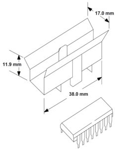 Рис. 12. Пример установки внешнего радиатора (теплоотвода) (θJA = 25 °C/Вт)