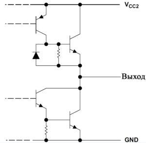 Рис. 4. Схема выходов для ИС L293