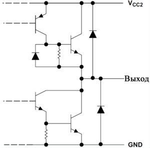 Рис. 5. Схема выходов для ИС L293D