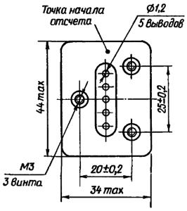 Конструктивные данные реле РВЭ3А. Исполнение ЯЛ4.544.000-041
