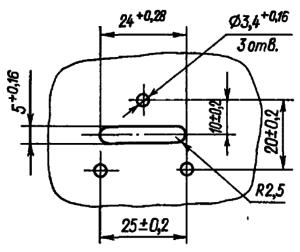 Разметка для крепления реле РВЭ3А при навесном монтаже