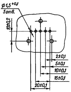 Разметка для крепления реле РВЭ3А при установке на печатную плату