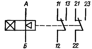 Принципиальная электрическая схема реле РВЭ2А