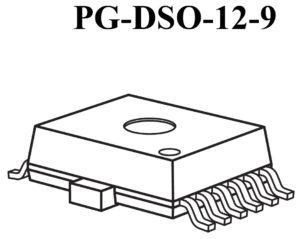 Рисунок 1. BTS 5242-2L в корпусе PG-DSO-12-9